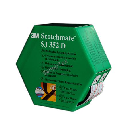 3M SJ 352D Svart (Kardborretejp)